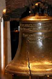 Liberty Bell, bearing the enscription, Leviticus 25:10  Proclaim Liberty throughout all the land, unto all the inhabitants thereof.
