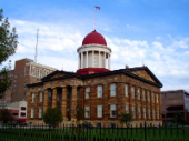 The old state capitol building in Springfield Illinois, where Lincoln served as a State Representative