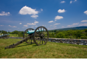 Cannon overlooking the Battlefield at Antietam, Maryland